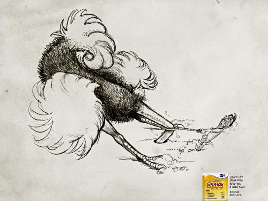 Gelmax Print Ad -  Ostrich