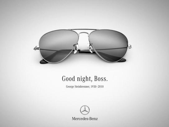 Mercedes Print Ad -  George Steinbrenner Tribute