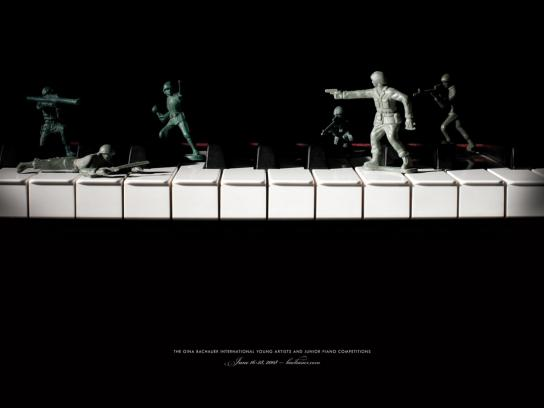 Gina Bachauer Print Ad -  Soldiers