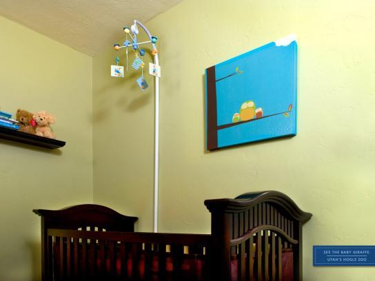 Hogle Zoo Print Ad -  Babies Campaign, Giraffe