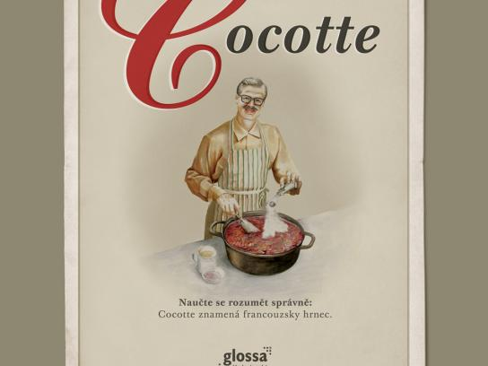 Glossa Print Ad -  Cocotte