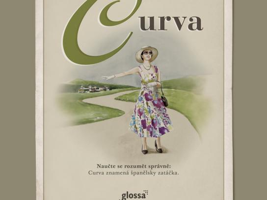 Glossa Print Ad -  Curva