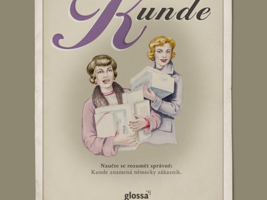 Glossa Print Ad -  Kunde
