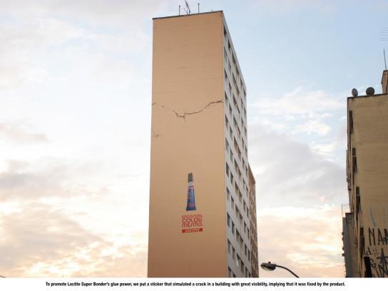 Loctite Ambient Ad -  Glued Building
