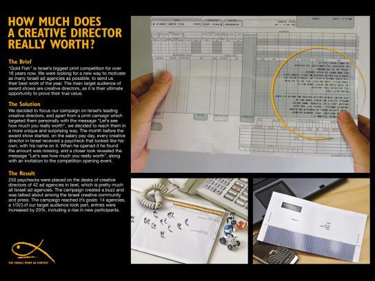 Gold Fish Awards Direct Ad -  Paycheck