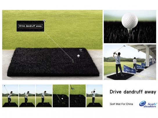 Head & Shoulders Ambient Ad -  Golf mat