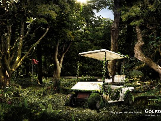 Golfzon Print Ad -  The green returns home