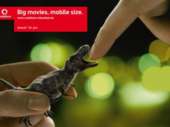 Vodafone Print Ad -  T-Rex