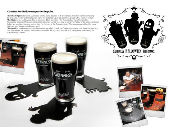 Guinness Ambient Ad -  Coasters for Halloween