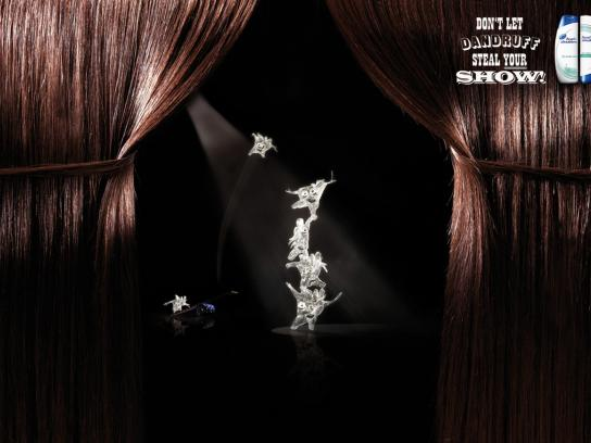 Head & Shoulders Print Ad -  Dandruff Circus, 1