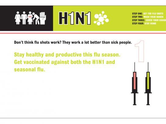 H1N1 Print Ad -  Fire the Flu, 1