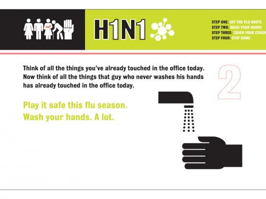 H1N1 Print Ad -  Fire the Flu, 2