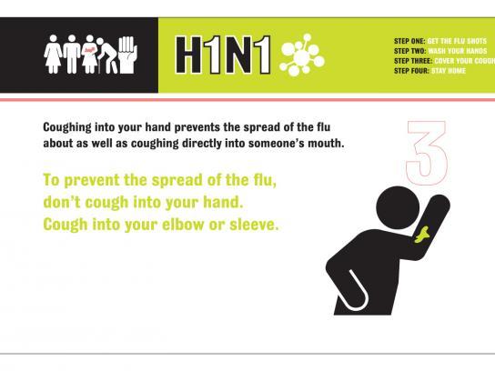 H1N1 Print Ad -  Fire the Flu, 3