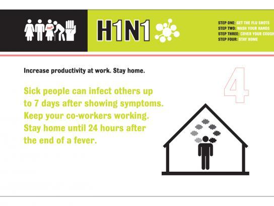 H1N1 Print Ad -  Fire the Flu, 4
