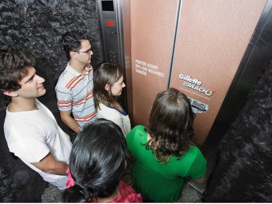 Gillete Ambient Ad -  Hairy elevator
