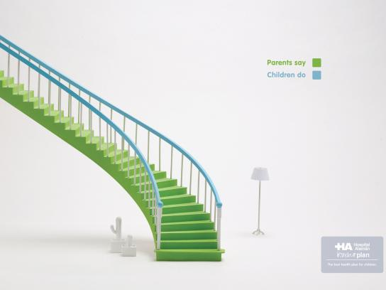 Hospital Aleman Print Ad -  Stairs