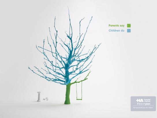 Hospital Aleman Print Ad -  Tree