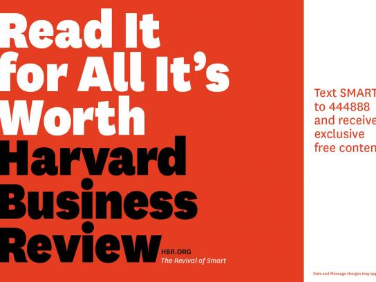 Harvard Business Review Outdoor Ad -  Read