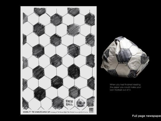 Human Rights Film Festival Print Ad -  Ball