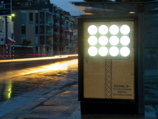Human Rights Film Festival Ambient Ad -  Lights