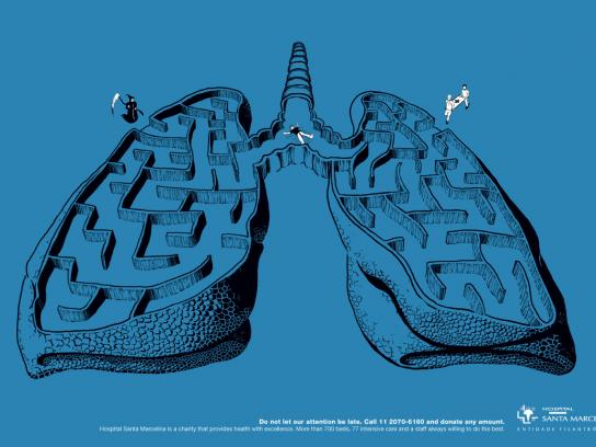 Hospital Santa Marcelina Print Ad -  Lungs