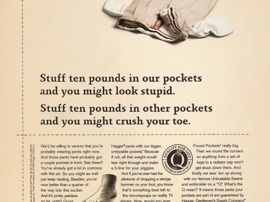 Haggar Print Ad -  Stuff ten pounds