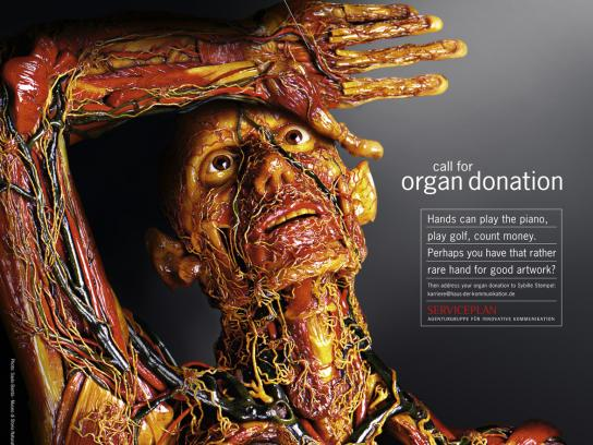 Organ donation, Hand