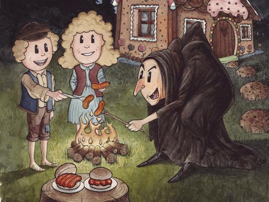Hall's Print Ad -  Hansel & Gretel