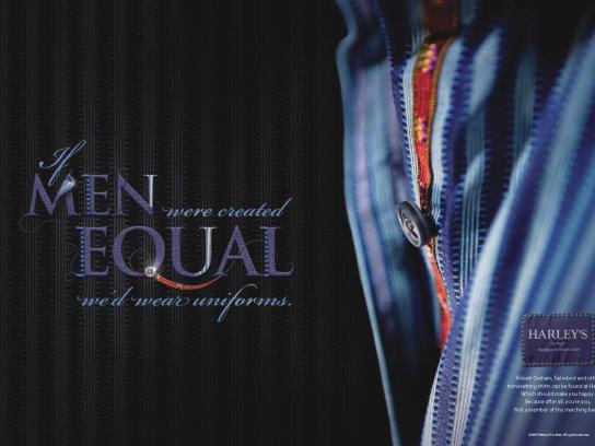 Harley's Print Ad -  Equal