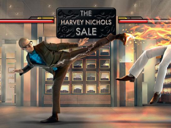 Harvey Nichols Print Ad -  Salefighter Campaign Menswear