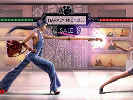 Harvey Nichols Print Ad -  Salefighter Campaign Womenswear, 2