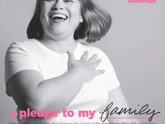 St Vincent's Hospital Print Ad -  The Health Pledge, Luz