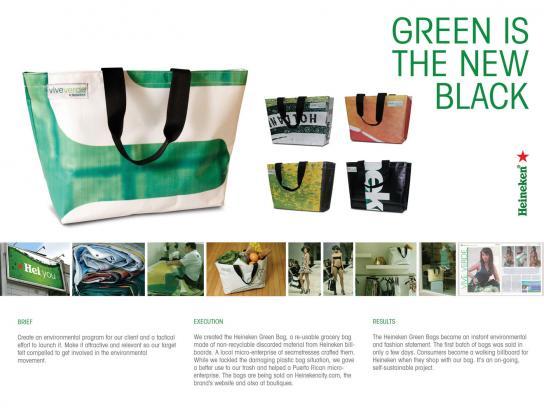 Heineken Ambient Ad -  Green is the new black