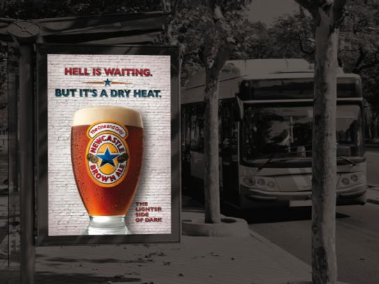 Newcastle Brown Ale Outdoor Ad -  Hell is waiting
