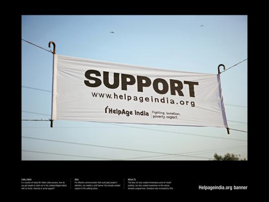helpageindia Outdoor Ad -  Support