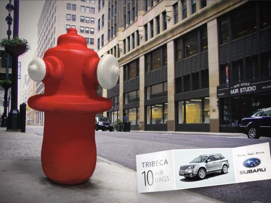 Subaru Print Ad -  Water hydrant