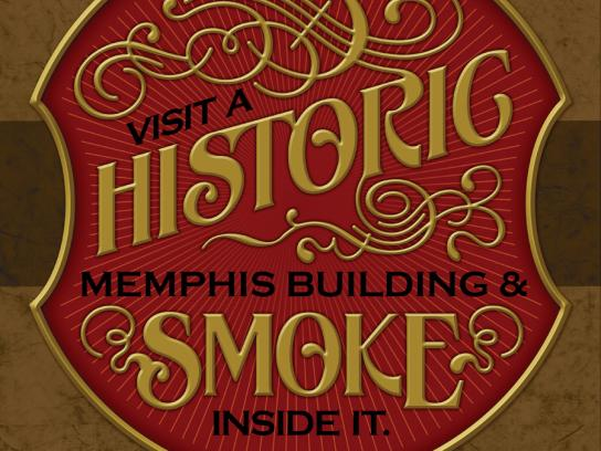 Memphis Tobacco Bowl Print Ad -  Historic