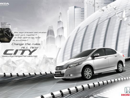 Honda Print Ad -  Change the rules, 1