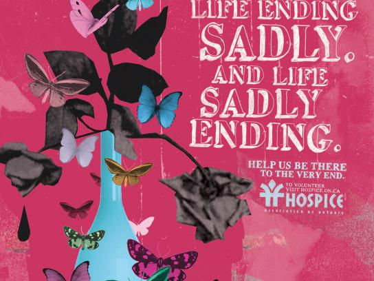 Hospice Print Ad -  Life ending sadly