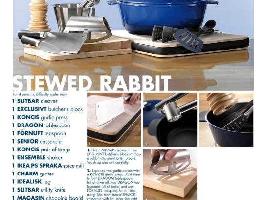 IKEA Print Ad -  Recipes, Stewed Rabbit