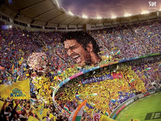 Indian Premier League Print Ad -  Dhoni