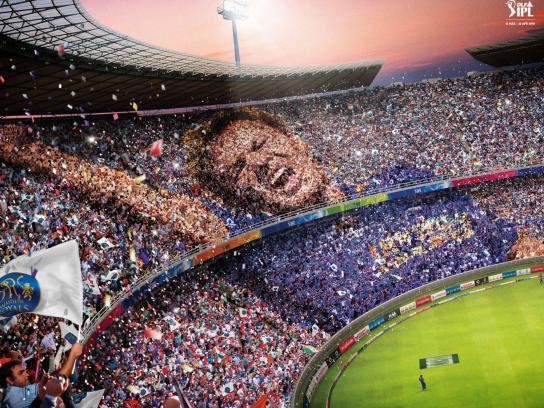 Indian Premier League Print Ad -  Warne