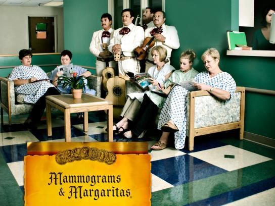 IP Casino Print Ad -  Mammograms & Margaritas