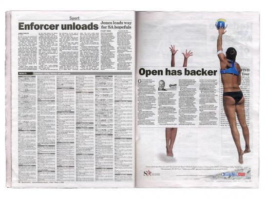 FIVB Print Ad -  Net affect