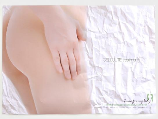 I care for my body Ambient Ad -  Cellulite treatments