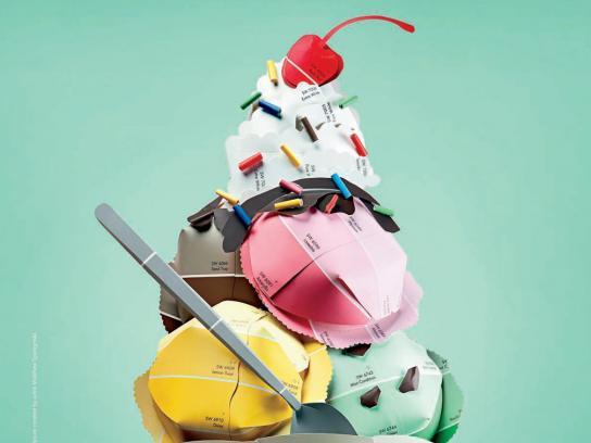 Sherwin-Williams Print Ad -  Color Chips, Ice Cream