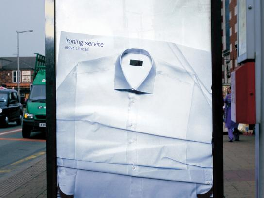Creased poster