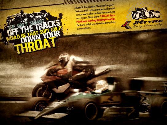 JK Tyre Print Ad -  Racing, 1