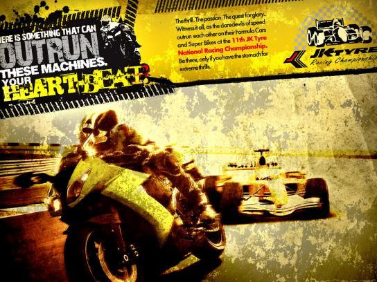 JK Tyre Print Ad -  Racing, 2