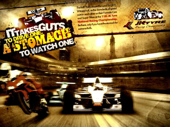 JK Tyre Print Ad -  Racing, 3